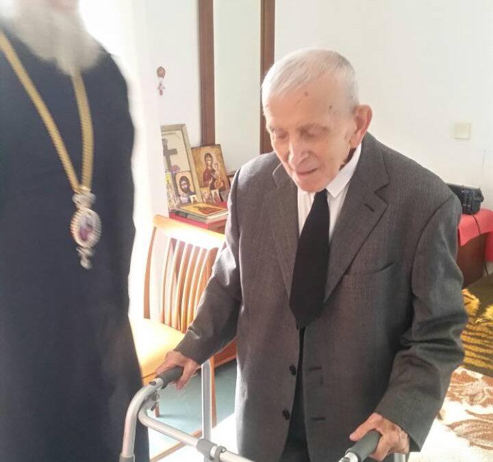 Photo of Επίσκεψη του Σεβασμιωτάτου στον αδελφό του Μακαριστού Χριστοδούλου