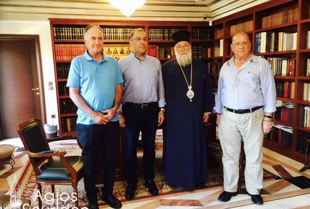 Photo of Mr. Dimitris Kammenos visits the Bishop of Corfu