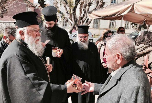 Επισκέψεις του Μητροπολίτου Κερκύρας ενόψει του Αγίου Πάσχα