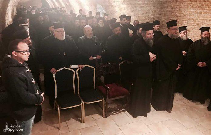 Ιερατική Σύναξη στην Ι.Μ. Κερκύρας