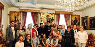 Μέλη της Ρωσικής παροικίας της Κωνσταντινουπόλεως στον Μητροπολίτη Κερκύρας