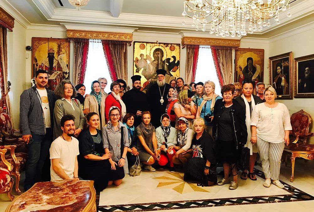 Photo of Μέλη της Ρωσικής παροικίας της Κωνσταντινουπόλεως στον Μητροπολίτη Κερκύρας