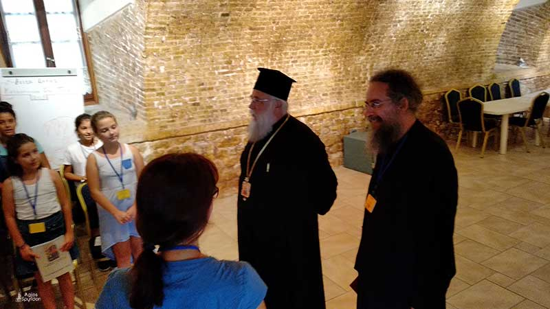 Photo of The Bishop of Corfu visits the last camping period in Corfu Town