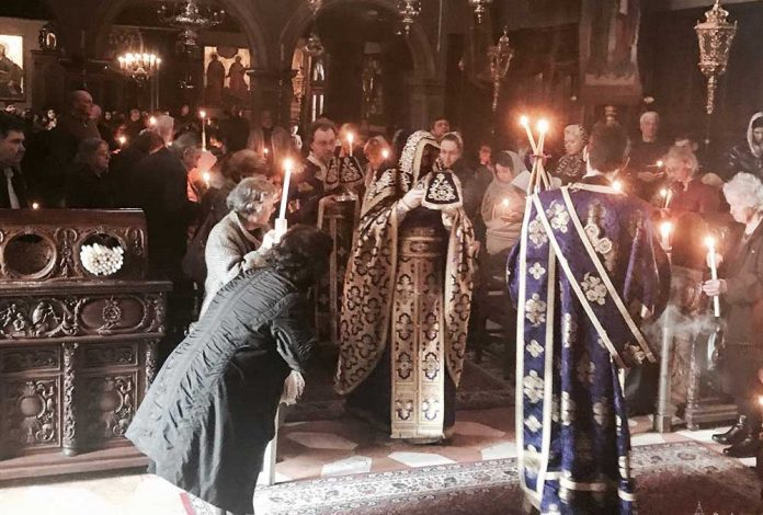 Προηγιασμένη Θεία Λειτουργία στο Ιερό Προσκύνημα του Αγίου Σπυρίδωνος