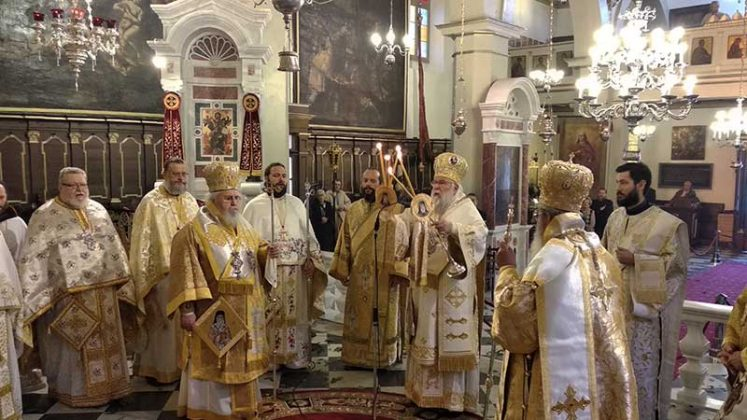Αρχιερατικό Συλλείτουργο για τον Άγιο Νεκτάριο στην Ι.Μ. Κερκύρας