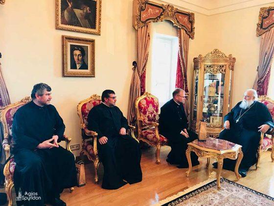 Επίσκεψη του Μητροπολίτου Μιχαλουπόλεως και Κασσοβίας κ. Γεωργίου στον Μητροπολίτη Κερκύρας