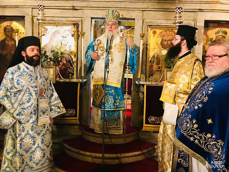 "Photo of Bishop of Corfu, Mr. Nektarios: ""As Greeks Orthodox, we need to be united."""