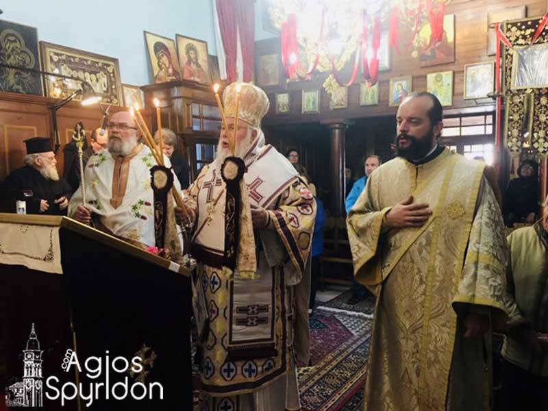 "Photo of Bishop of Corfu, Mr. Nektarios: ""Zaccheus had Christ in his heart""."