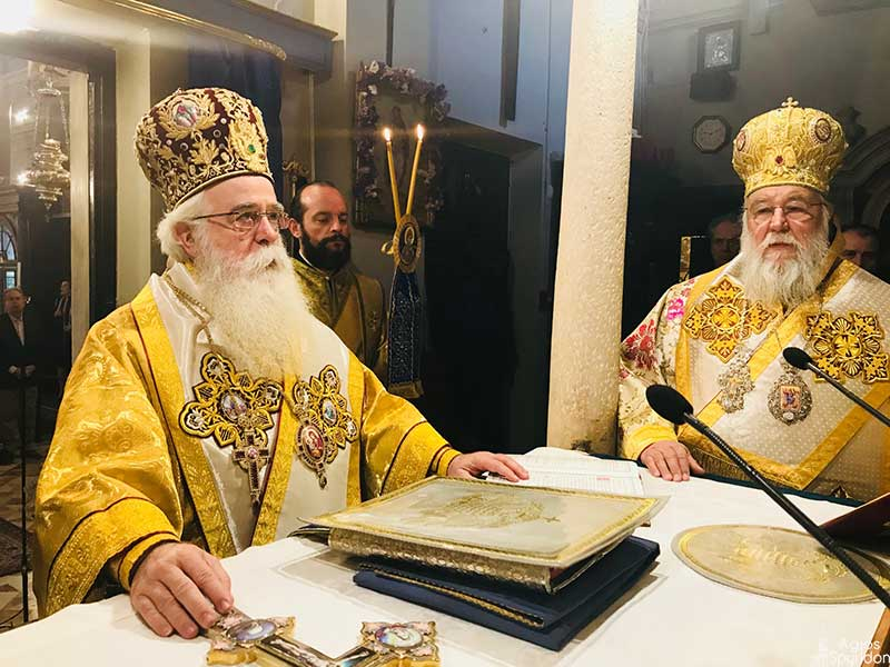 Photo of Panegyrical Divine Liturgy in the Holy Church of St. Spyridon.