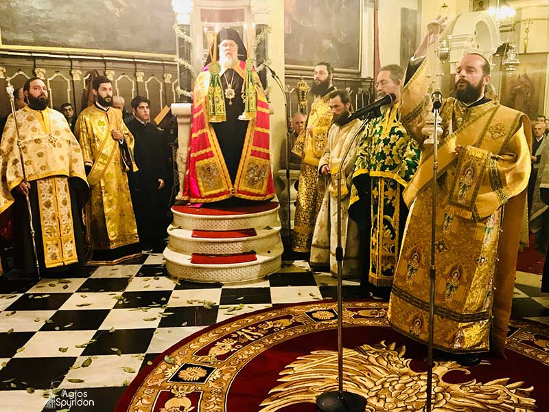 "Photo of Bishop of Corfu, Mr. Nektarios: ""Church's presence is annoying nowadays."""