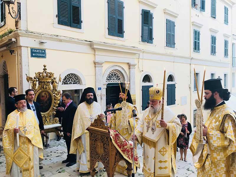 Photo of Η Αναστάσιμη Θεία Λειτουργία στην Ι.Μ. Κερκύρας