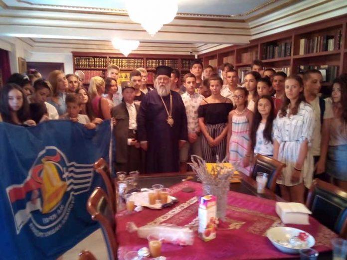 Επίσκεψη μαθητών από το Πατριαρχείο Σερβίας στον Μητροπολίτη Κερκύρας2