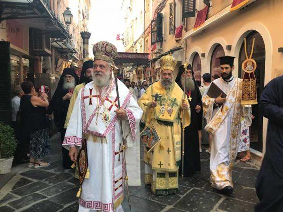 Η λιτάνευση του Ιερού Σκηνώματος του Αγίου Σπυρίδωνος της 11ης Αυγούστου23