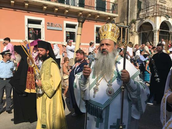 Η λιτάνευση του Ιερού Σκηνώματος του Αγίου Σπυρίδωνος της 11ης Αυγούστου26