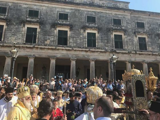 Η λιτάνευση του Ιερού Σκηνώματος του Αγίου Σπυρίδωνος της 11ης Αυγούστου39