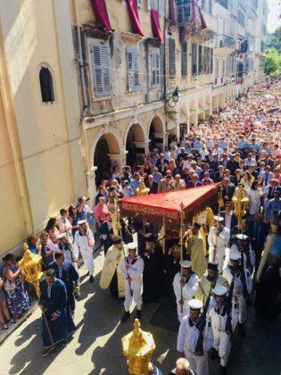 Η λιτάνευση του Ιερού Σκηνώματος του Αγίου Σπυρίδωνος της 11ης Αυγούστου45