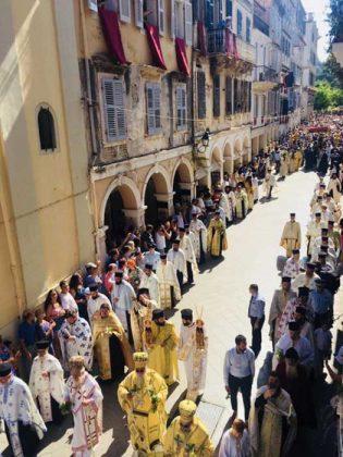 Η λιτάνευση του Ιερού Σκηνώματος του Αγίου Σπυρίδωνος της 11ης Αυγούστου46