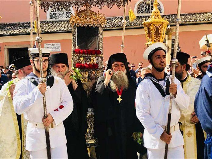 Η λιτάνευση του Ιερού Σκηνώματος του Αγίου Σπυρίδωνος της 11ης Αυγούστου47