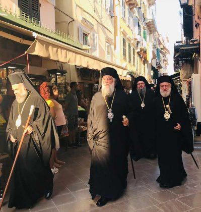 Πολυαρχιερατικός Εσπερινός στο Ιερό Προσκύνημα του Αγίου Σπυρίδωνος