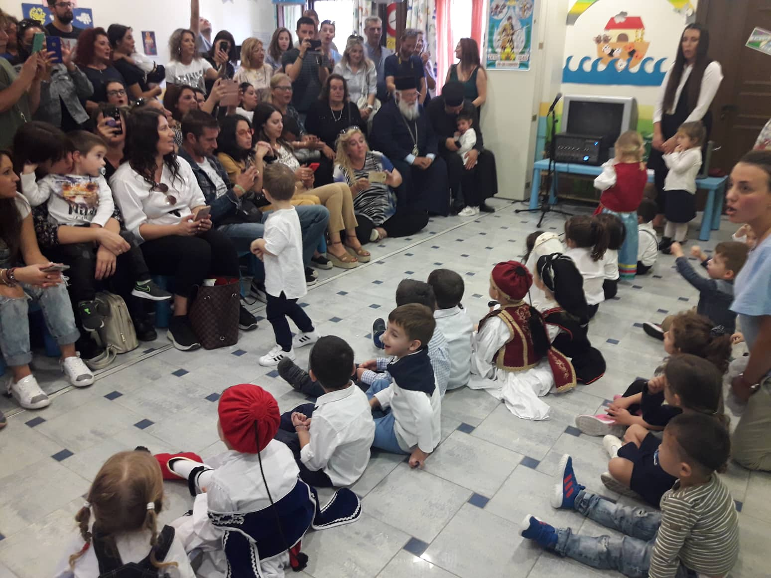 Photo of The Bishop of Corfu in the Kindergarden School