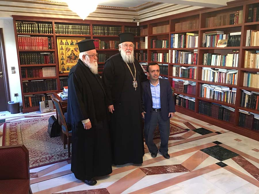 Photo of THE BISHOP OF CORFU WITH THE NEW DIRECTOR OF THE MUNICIPAL HOSPITAL