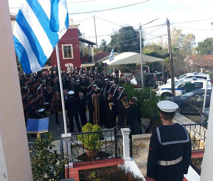 Photo of MEMORIAL SERVICE FOR THE HERO OF IMIA HECTOR GIALOPSOS BY THE BISHOP OF CORFU