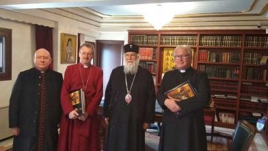 Photo of THE BISHOP OF THE ANGLICAN CHURCH MR. ROBERT VISITS MR. NEKTARIOS